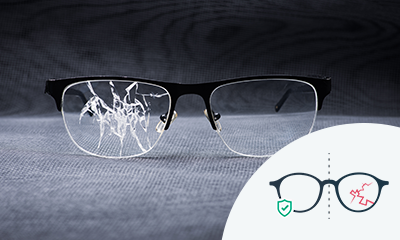 Glasses with extra lens hardening