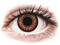 alensa.ie - Contact lenses - Red Orange Vampire Contact Lenses - ColourVue Crazy