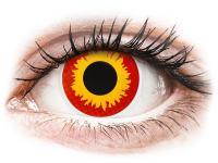 alensa.ie - Contact lenses - Red and Yellow Wildfire Contact Lenses - ColourVue Crazy