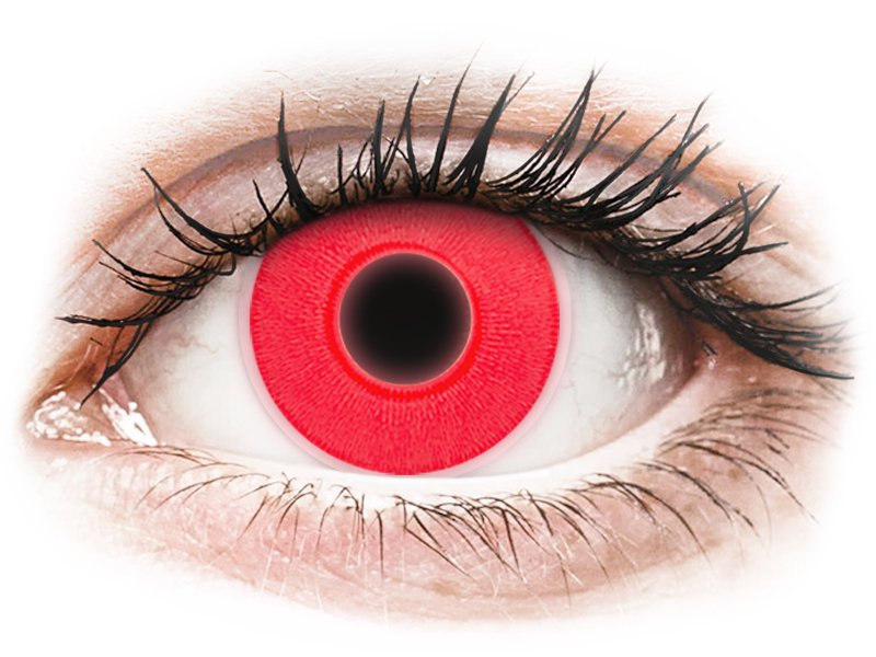 4dc9760c1 ... Red Glow Contact Lenses - ColourVue Crazy (2 coloured lenses) ...