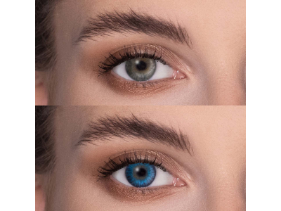 Brilliant Blue contact lenses - FreshLook ColorBlends - Power (2 monthly coloured lenses)