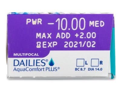 Dailies AquaComfort Plus Multifocal (30lenses)