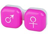 alensa.ie - Contact lenses - Lens Case man & woman - pink