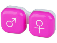 alensa.ie - Contact lenses - Lens Case man & woman - pink