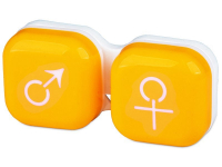 alensa.ie - Contact lenses - Lens Case man & woman - yellow