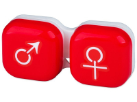 alensa.ie - Contact lenses - Lens Case man & woman - red
