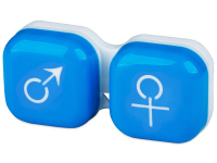 alensa.ie - Contact lenses - Lens Case man & woman - blue