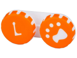 alensa.ie - Contact lenses - Lens Case Paw orange