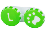 alensa.ie - Contact lenses - Lens Case Paw green