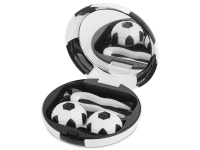alensa.ie - Contact lenses - Lens Case with mirror Football - black