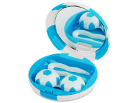 alensa.ie - Contact lenses - Lens Case with mirror Football - blue