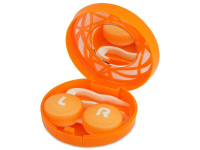 alensa.ie - Contact lenses - Lens Case with mirror- orange ornament