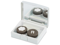 alensa.ie - Contact lenses - Lens Case with mirror Elegant  - silver