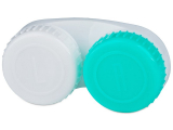 alensa.ie - Contact lenses - Lens Case Green and White with L/R marking