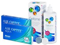 Air Optix Aqua (2x3lenses) +GeloneSolution 360ml